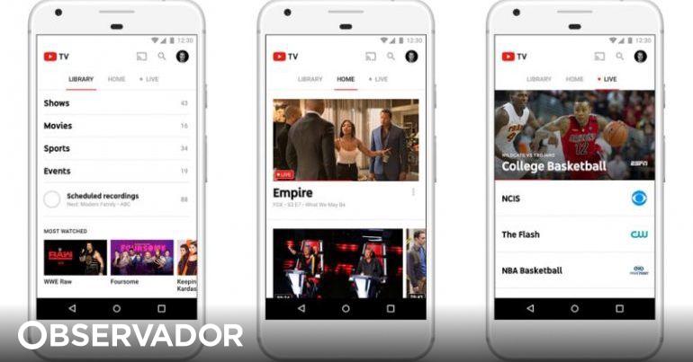Google apresenta a Youtube TV
