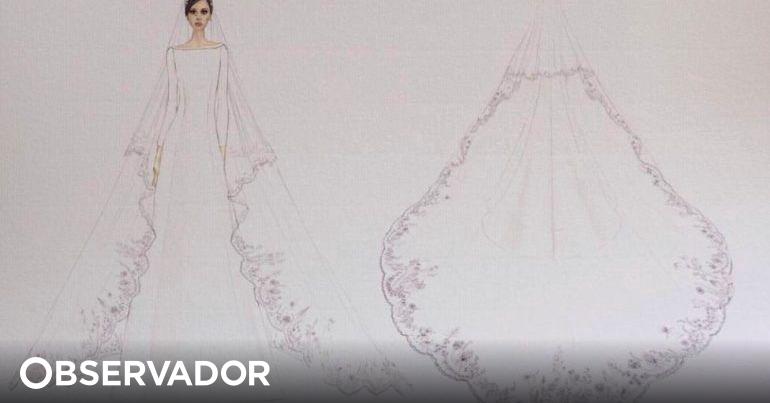 8e6047a2c Os esboços dos vestidos de noiva de Meghan Markle e o que Harry disse à  designer – Observador