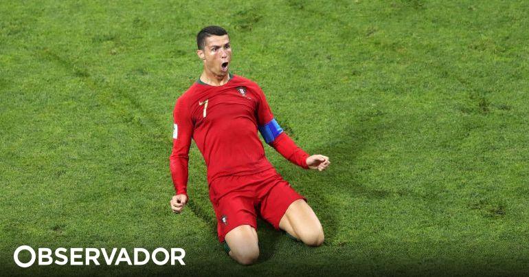 Ronaldo fez o hat-trick com um golaço de livre. Portugal e Espanha empatam  3-3 – Observador 6ff971ae5affa