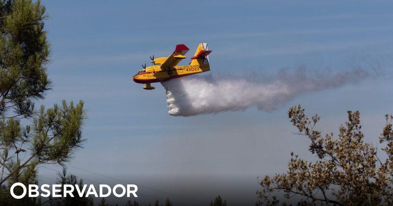 Avião de combate a incêndios amarou na barragem de Castelo de Bode. Piloto sobreviveu