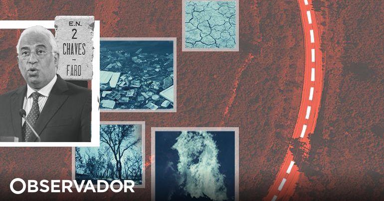 Um roteiro para António Costa dos problemas na EN2: hectares ardidos, hospitais sem médicos e seca extrema
